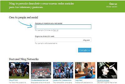 Ning. Plataforma on-line líder para la creación de redes
