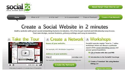 Social Go permite crear nuestra propia red social o de negocios