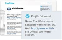 Twitter, cuentas verificadas